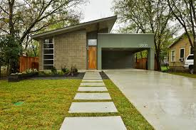 mid century modern exterior lighting. Mid Century Modern Exterior Doors Midcentury With Carport Cinder Block Driveway Lighting .
