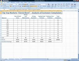 Excel Pareto Digrams And Run Charts For Total Quality Management