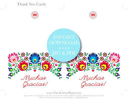 Note Card Maker Printable Note Cards Printable Fiesta Thank You Card Instant