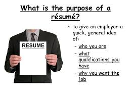 The Purpose Of A Resumes