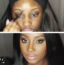 black before and after makeup meme