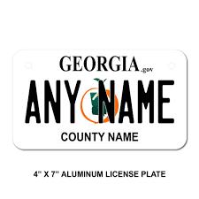 Georgia License Plates Designs Amazon Com Teamlogo Personalized Georgia License Plate