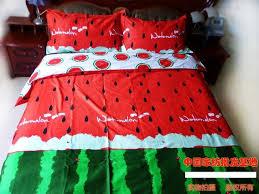 Red green Watermelon Bedding sets King size Queen quilt duvet ... & Red green Watermelon Bedding sets King size Queen quilt duvet cover set bed  in a bag Adamdwight.com