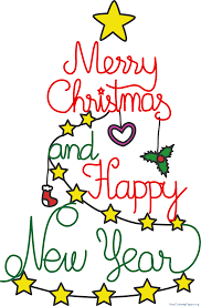 happy new year clipart. Fine Happy Merry Christmas And Happy New Year Clipart  Nice Coloring Pages For   Free Inside A