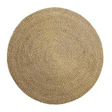 bloomingville round seagrass rug natural Ø200cm bloomingville