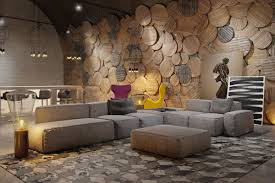 living room wall texture designs