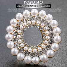 online get cheap gold plating thickness com alibaba high grade thick gold plating brooch artificial imitation corsage pins badges badges flower circles rhinestone