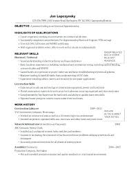 Resume Templates Electrician Directory Resume Sample