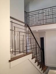 Black metal stair railing linear geometric art modern contemporary  industrial NUMBER ONE FAVORITE