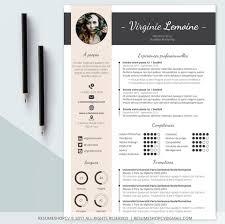 Resume Modern E 4 Cv Resume Professionelle Moderne Und Grafik 4 Etsy