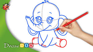 Baby Elephant Drawings Anime Baby Elephant From Anime Animals Drawing Tutorial Youtube