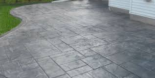 stamped concrete patio. Backyard Stamped Concrete Patio