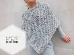 Easy Knit Poncho Pattern
