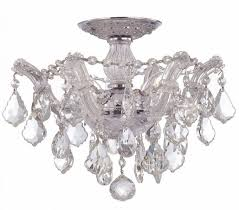 semi flush mount crystal chandelier on small home decor for inside flush mount crystal chandelier
