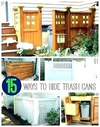 outdoor garbage can enclosure trash storage build shed wood outside bins container bin solutio