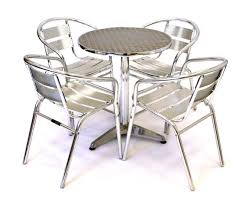 aluminium bistro set garden set 4 x aluminium chairs 1 aluminium table