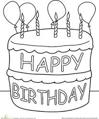 Small Picture Birthday Cake Coloring Page Birthday cakes Birthdays and