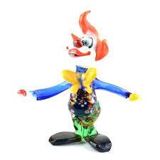clown glass juggling clown glass figurine murano glass clown ashtray for