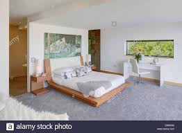 modern bedroom with bathroom. Contemporary Bedroom Modern Bedroom With Ensuite Bathroom Separated By Partition Wall The Edge  Scotland With Bedroom Bathroom 1