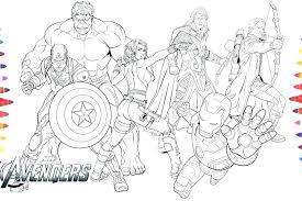 Marvel Avengers Coloring Pages Dariokojadininfo