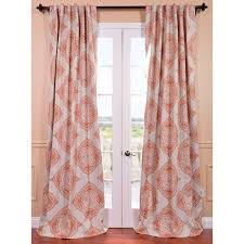 exclusive fabrics moroccan blackout curtain panel pair 120 inch orange size 50
