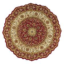 home decorators collection masterpiece red 6 ft round area rug 3713960110 the home depot