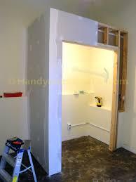 Basement Closet Drywall Finishing HandymanHowtocom - Finish basement walls without drywall