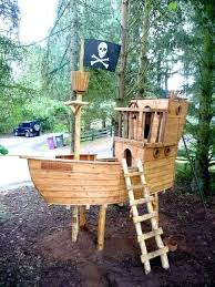 pirate ship playhouse backyard clubhouse ideas outdoor wooden