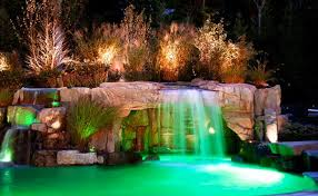 in ground pools with waterfalls. Simple Pools Inground Swimming Pool Email Save Photo Colorful Lights To In Ground Pools With Waterfalls D