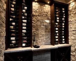 Wine Cabinet Design Ideas Small Wine Cellar Idea Love The Stone And Color Of The Wood