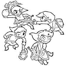 Zelda Coloring Pages Legend Of Gallery Download Free Book Toon