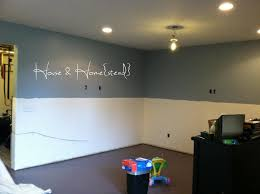 basement wall paint and decor