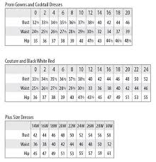 Us Plus Size Chart Mac Duggal Dress And Gown Size Chart
