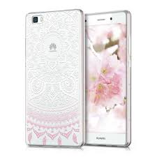 huawei p8 lite white. kwmobile crystal tpu silicone case for huawei p8 lite (2015) in design indian sun light pink white transparent. \u2039 \u203a