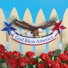 patriotic eagle sign metal wall decor