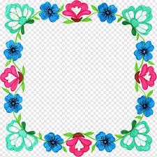 Square Corner Design Flower Frames Floral Design Square Floral Corner Png Pngwave