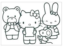 Kitty Coloring Images Hello Kitty Valentines Coloring Pages Hello