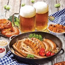 Image result for немецкие колбаски с пивом