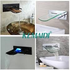 2018 kemaidi bathroom bathtub led wall mounted black chrome brushed nickel brass mixer waterfall faucet basin sink tap from isaaco 90 73 dhgate com