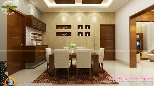 Kitchen And Dining Room Designs India Contemporary Kitchen Dining And Living Room Kerala Home