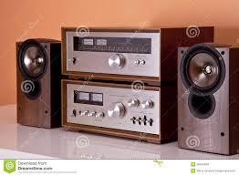 speakers vintage. royalty-free stock photo. download vintage stereo amplifier tuner speakers n
