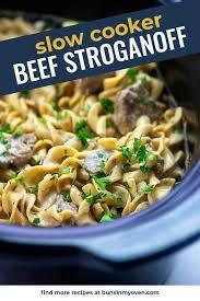 slow cooker beef stroganoff creamy