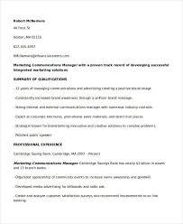 Marketing Communications Manager Resume Marketing Resume Samples Amazing Communications Manager Resume