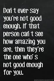 Not Good Enough Quotes Enchanting Don't Ever Say You're Not Good Enough Heartfelt Love And Life Quotes