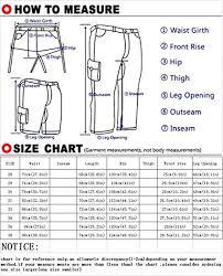 Inseam Vs Outseam Chart Mens Cotton Loose Fit Multi Pocket Cargo Shorts No Belt Blue 30
