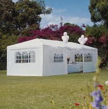 3x9m gazebo canopy pe white