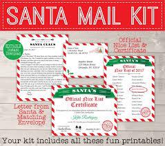 Santa List Template Personalized Santa Letter Template Printable Nice List