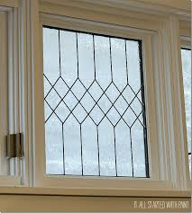 faux leaded glass window tutorial it all started with paint on remodelaholic