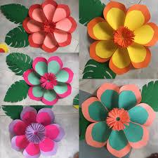 Flower Made In Paper Hawaiian Paper Flower By Gellediy Hand Made Paper Flower By