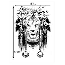 1 шт временный боди арт водонепроницаемый тату лев бабочка кости узор Km 067 крутые